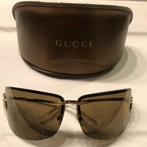 EUC Authentic GUCCI Sunglasses Gold